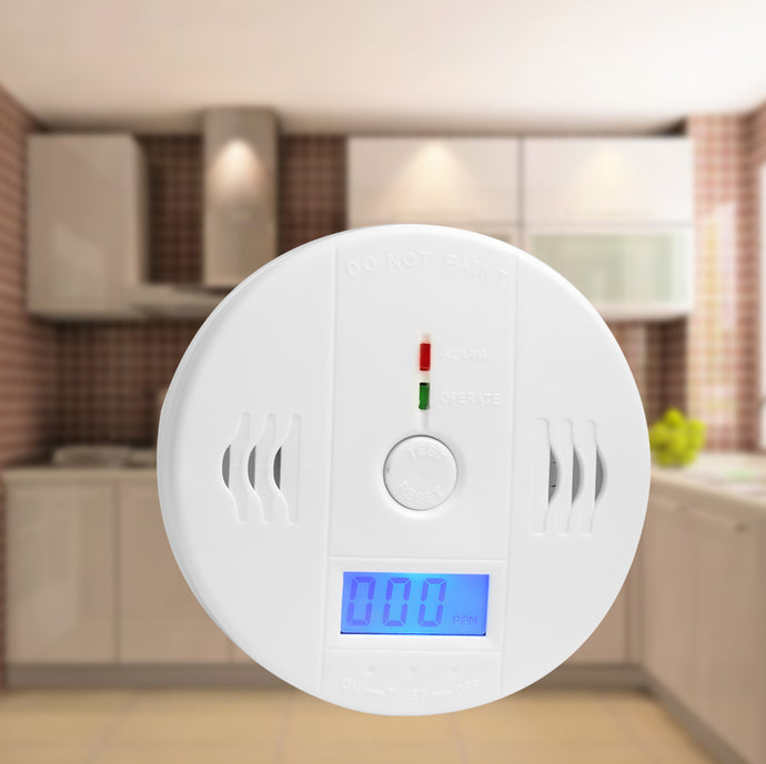 85dB Warning High Sensitive LCD Photoelectric Independent CO Detector-Sensor Carbon Monoxide Poisoning Alarm Detector For home