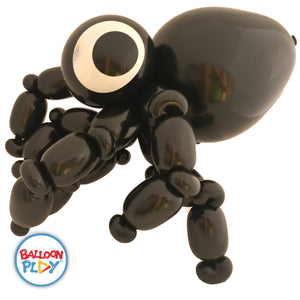 "10"" Round Latex Eyeball Balloons with Spider Eyes, Top Print - BalloonPlay"