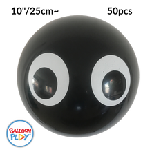 "Load image into Gallery viewer, 10"" Round Latex Eyeball Balloons with Spider Eyes, Top Print"