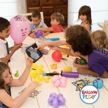 Load image into Gallery viewer, Deluxe Balloon Animal Kit with App | 150 Balloons + High Quality Balloon Pump + Stickers + Marker + Balloon App with 40+ Video Tutorials, Fun Gift for All Ages and Celebrations. - BalloonPlay