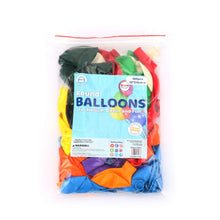 "Load image into Gallery viewer, Latex round 10"" Party Balloons (100 PCS) Bulk Pack with Assorted Colors – Strong & Thickened. Use for Helium, air and Colorful Party Decoration Balloons for Birthdays, Anniversary Celebration - BalloonPlay"
