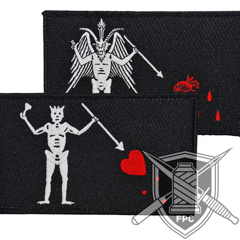 Blackbeard Flagge - Big Patch - limitiertes Set