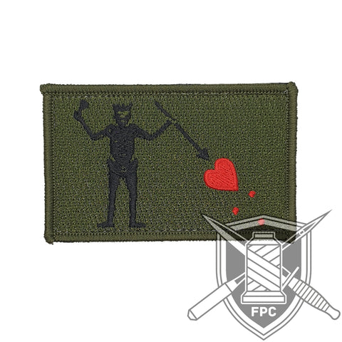 Blackbeard Flagge - Patch - oliv