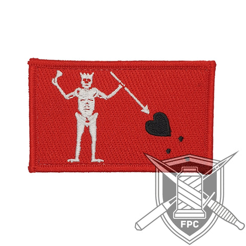 Blackbeard Flagge - Patch - Limitiert 20 - rot