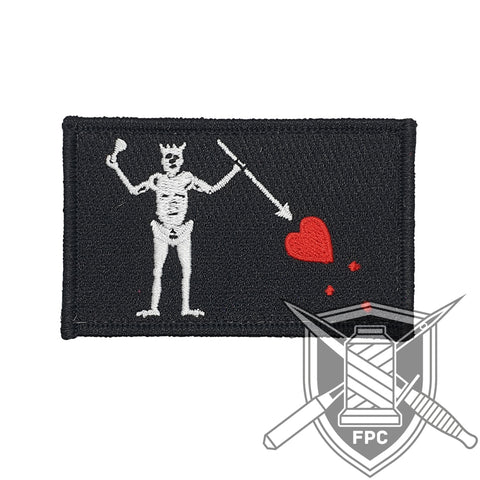 Blackbeard Flagge - Patch - schwarz