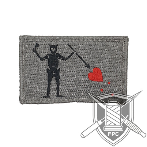 Blackbeard Flagge - Patch - Limitiert 20 - silbergrau