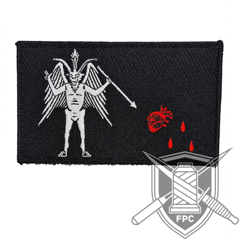 Blackbeard 3.0 Flagge - Big Patch - schwarz