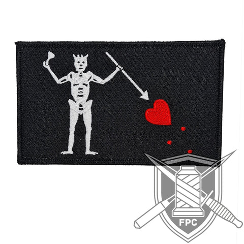 Blackbeard Flagge - Big Patch - schwarz