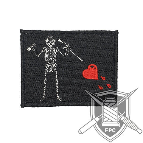 Blackbeard Flagge 2.0 - Patch - schwarz