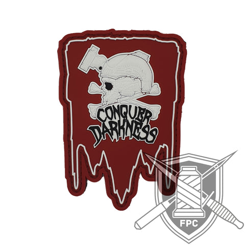 Conquer Darkness - PVC Patch - Limitiert 20 - rot