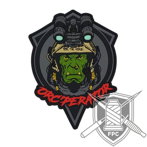 Orc'perator - For the Horde! - PVC Patch