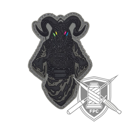 Pray - PVC Patch schwarz/neon