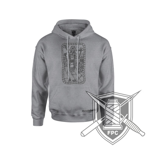 Raise the black Flag - Hoodie - assault grey