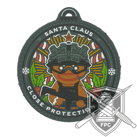 Santa Claus Close Protection Unit - Lim.20 - BlackOpsMatter Edition - PVC - Patch
