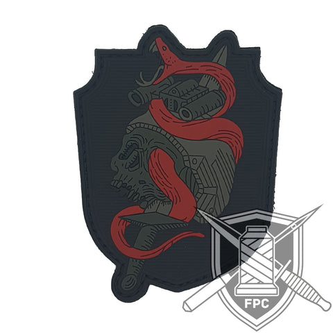 Snake 'n' Roll - Blutmond - PVC Patch