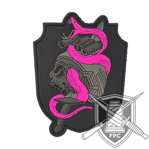 Snake 'n' Roll - lim. 40 neonpurple - PVC Patch