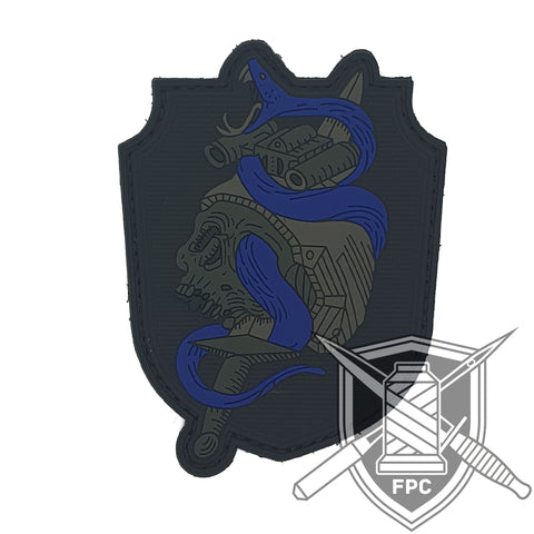 Snake 'n' Roll - thin blue line PVC Patch