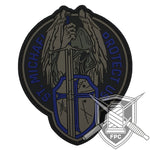 St. Michael - Protect us - Thin blue Line / blau - PVC Patch