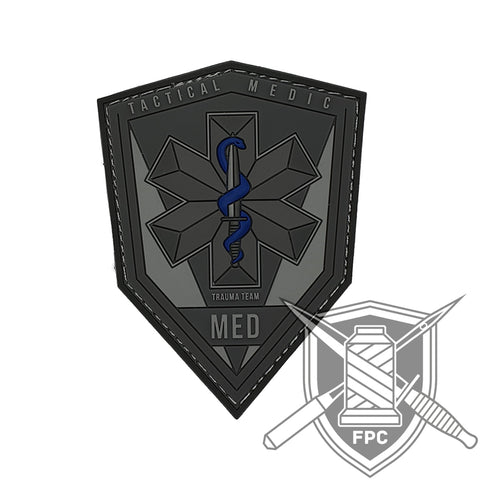 Tactical Medic / TacMed - PVC Patch grau
