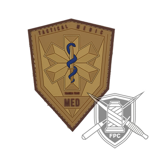 Tactical Medic / TacMed - PVC Patch sand