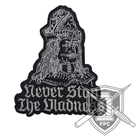 Never stop the Vladness - Patch - grau/schwarz