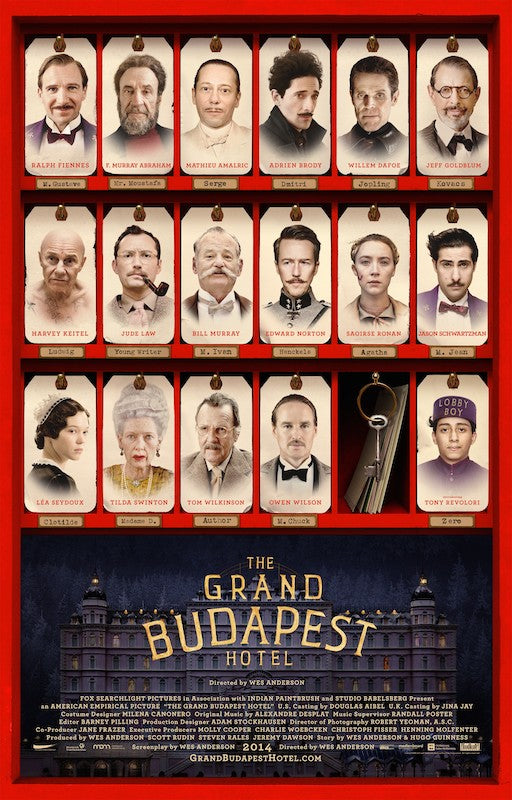 Wes Anderson's Grand Budapest Hotel poster