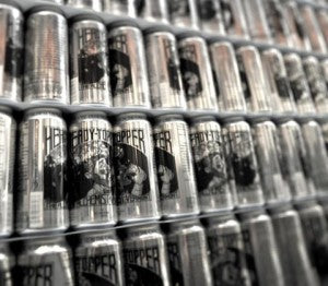 Cans of Heady Topper at Alchemist Brewing