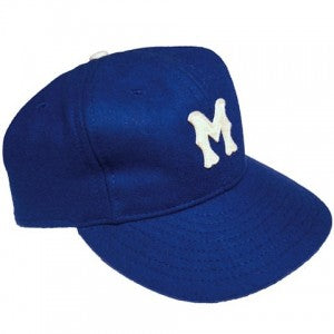 A flannel Montreal Royals baseball cap from Ebbets Flannel.