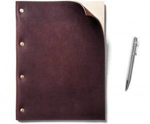 A refillable leatherbound notebook from Kaufman Mercantile