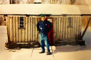James Fox on a snowshoe tour in Vermont
