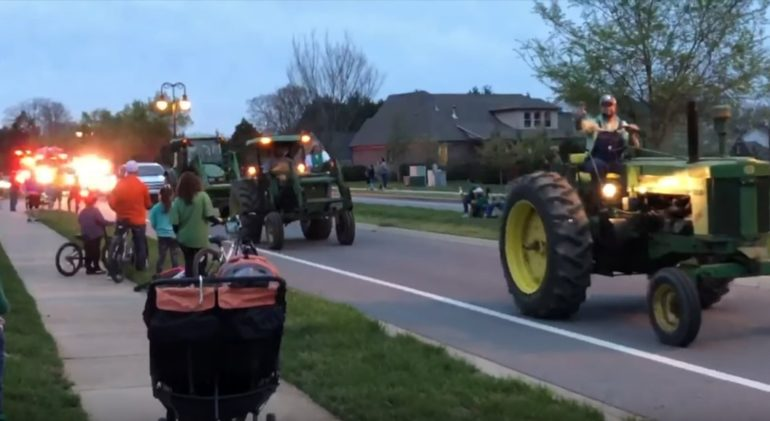 Joe Diffie's Neighborhood Had a Tractor Parade to Celebrate His Life