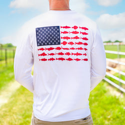 America Performance Fishing Tee