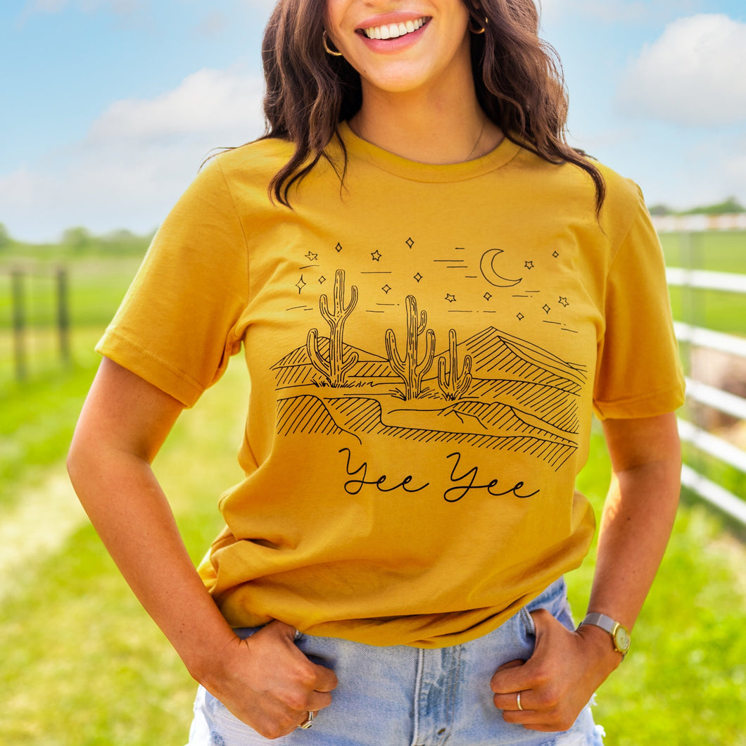 Yellow Tumbleweed Tee
