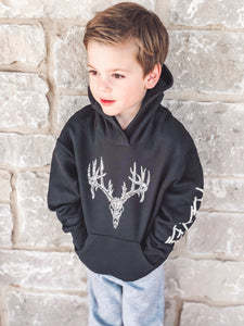 Youth Camo Whitetail Skull Hoodie