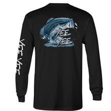 Load image into Gallery viewer, Black Performance Fishing Tee