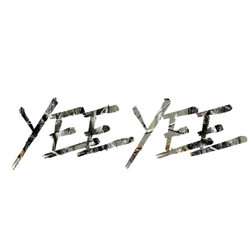 Yee Yee Camo Windshield Decal (36