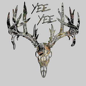 Yee Yee Camo Buck  Decal