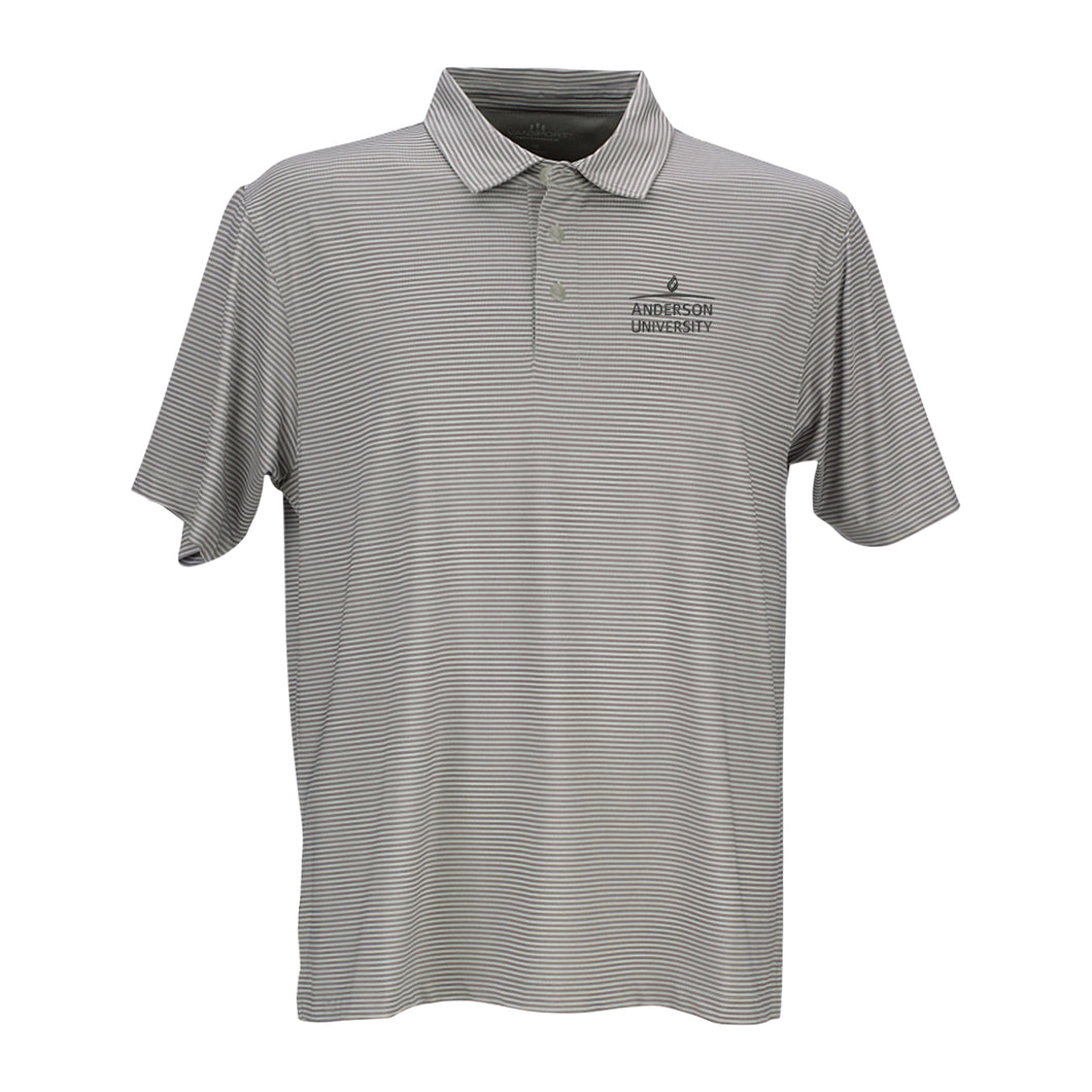 Vantage Men's Pro Tonal Micro Stripe Polo, Grey