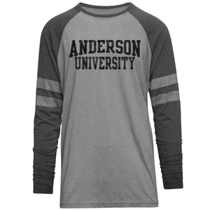 Camp David Men's Player Burnout Long Sleeve Tee, Oxford/Charcoal