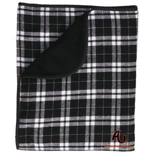 Boxercraft Gift Premium Flannel Blanket, Black/White