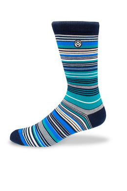 Sky Footwear Socks, Blue Striped