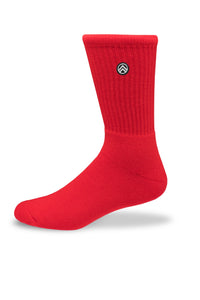 Sky Footwear Socks, Solid Red