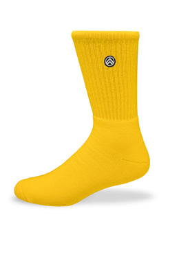 Sky Footwear Socks, Solid Yellow
