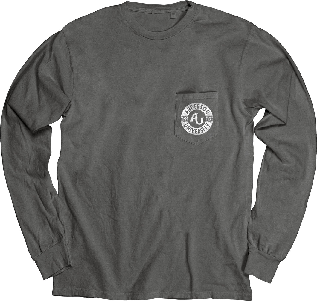 Blue 84 Dyed Ringspun Long Sleeve W/Pocket, Black