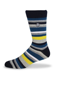 Sky Footwear Socks, Multi Striped