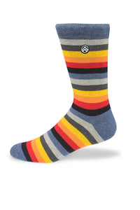 Sky Footwear Socks, Muted Rainbow