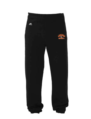 Russell 50/50 Closed Bottom Fleece Pants, Black Heather