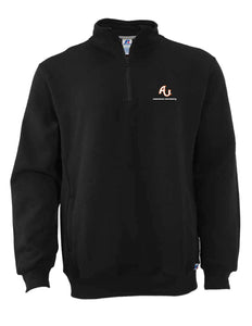 Russell Men's 50/50 Fleece 1/4 Zip Cadet, Black