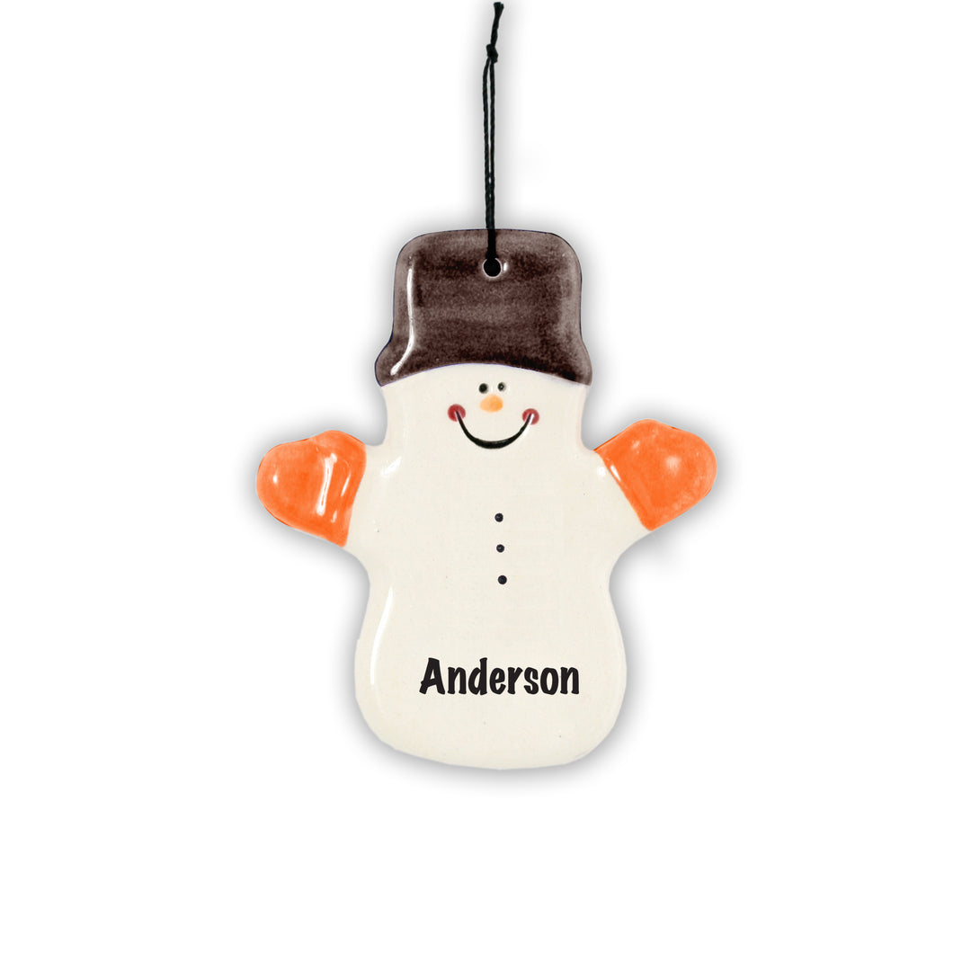 Spirit Claude the Snowman Ornament