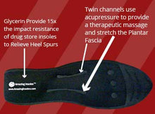 Load image into Gallery viewer, Massaging Shoe Insert is liquid filled offers superior cushioning